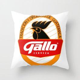 GALLO CERVEZA Throw Pillow