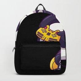 Funny Gaming Panda Gamer Gift Design Backpack