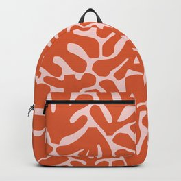 The Cut Outs | Pink & Dark Orange Backpack