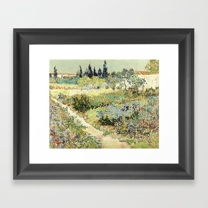 Vincent Van Gogh : Garden at Arles Gerahmter Kunstdruck