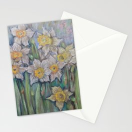 Narcissus SPRING FLOWERS IN THE GARDEN Stationery Cards