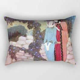 Stealers of Light By Edmund Dulac Rectangular Pillow