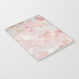 Vintage Floral Rose Roses painterly pattern in pink Notebook