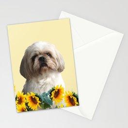 Paul Top Model - Shih tzu dog - Sunflower leaves Stationery Cards