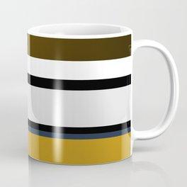 Golden Stripes Pattern Coffee Mug