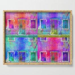 Cuatro Puertas de Colores II (Four Colorful Doors) Serving Tray