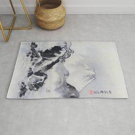 Kawanabe Kyosai - Mount Fuji - Digital Remastered Edition Rug