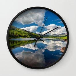 Llynnau Mymbyr Snowdonia Wall Clock