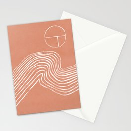 Watching riding a wave - boho Stationery Cards