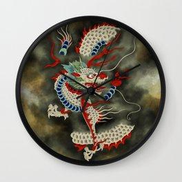 Dragon in the Cloud Type A: Minhwa-Korean traditional/folk art Wall Clock