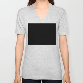 BLACK-WHITE Unisex V-Neck