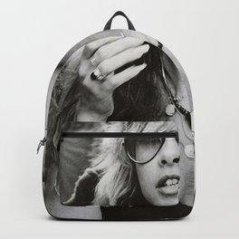 Stevie Nicks Young Black and white Retro Silk Poster Frameless Art Print Backpack