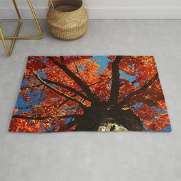 Trees on Fire Rug
