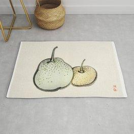 Asian pears by Kono Bairei (1844-1895) Rug