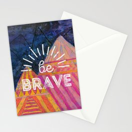 Be Brave on the Shadow Mountains Stationery Cards