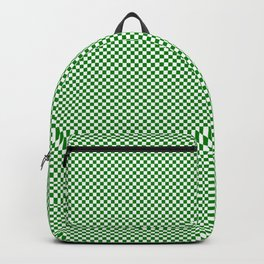 Dark green and white squares Backpack