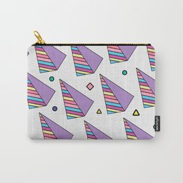 80s Analog Pyramids Pattern Carry-All Pouch