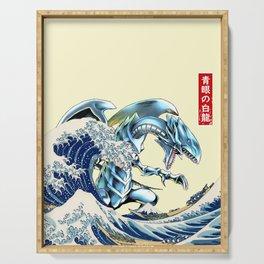 blue eyes white dragon Serving Tray