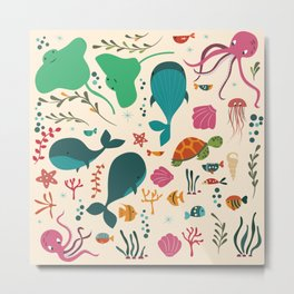 Sea creatures 003 Metal Print