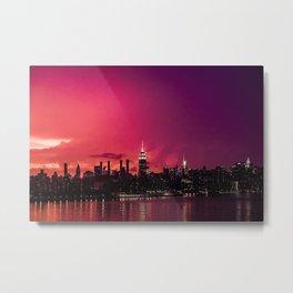 New York Crazy Sunset Metal Print