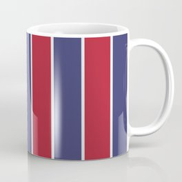 Large Red White and Blue USA Memorial Day Holiday Vertical Cabana Stripes Coffee Mug