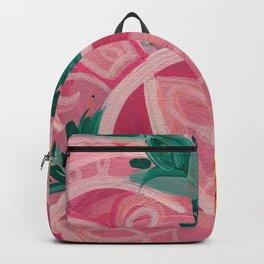 Pretty Pink Mandala Flower Backpack
