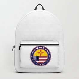New Mexico, USA States, New Mexico t-shirt, New Mexico sticker, circle Backpack