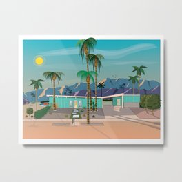 Palm Springs Vacation Home Metal Print
