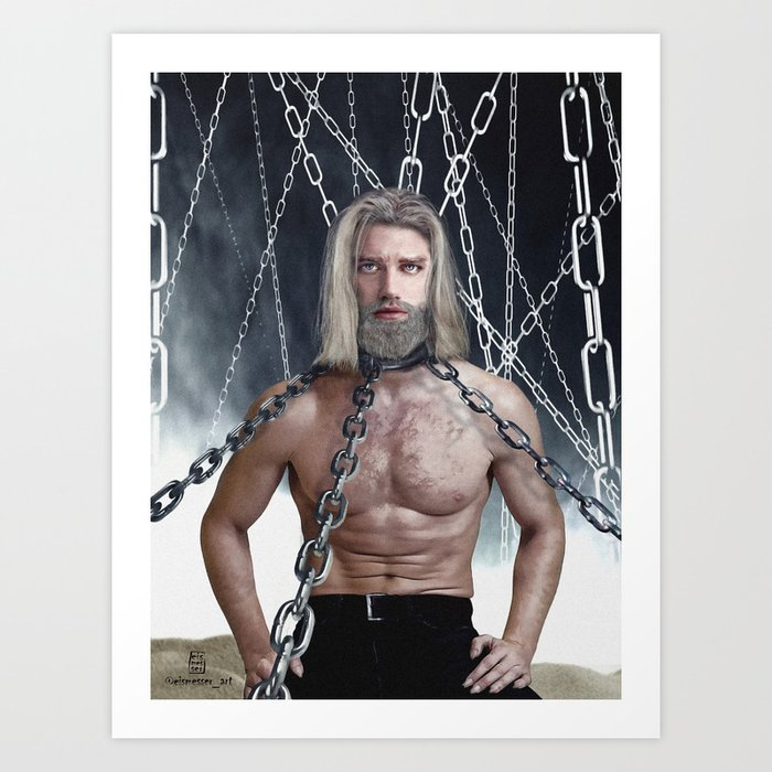 Zeke Yeager From Shingeki No Kyojin Attack On Titan Art Print By Eismesser Society6 How sad they haven't learned a thing from the mistakes of their past; zeke yeager from shingeki no kyojin attack on titan art print by eismesser