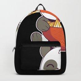 greedy panda as cute panda bear t-shirt Backpack