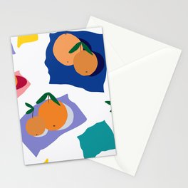 Abstract Orange Neck Gator Oranges Stationery Cards