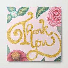 Camellia Thank you card Metal Print