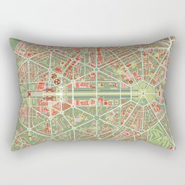 New Delhi map classic Rectangular Pillow