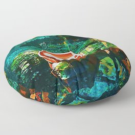 A Row Boat to Nowhere Floor Pillow