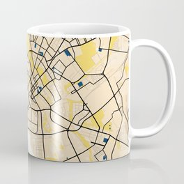 Minsk Yellow City Map Coffee Mug