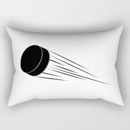 Ice Hockey Puck Rectangular Pillow