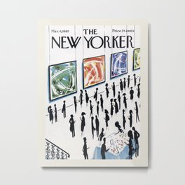 "Cover of "" The new Yorker"" magazine. Mar. 6 1965. Metal Print"