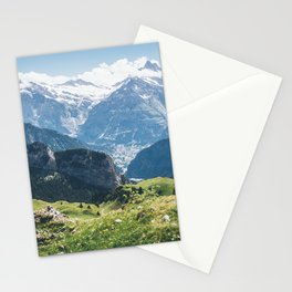 Swiss Alps Summer Landscape Stationery Cards