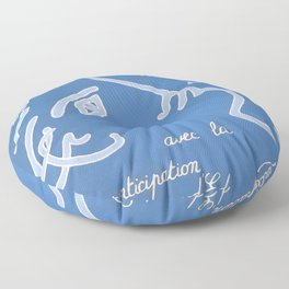 Jean Cocteau Exhibition Poster Floor Pillow