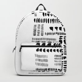 Prime Number 37 Black White Abstract Drawing Minimalist Spots Drops Monochrome Backpack