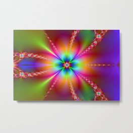 Bloom Fractal Metal Print