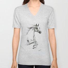 Arabian horse ink art Unisex V-Neck