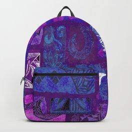 Hawaiian Tapa Collage Backpack