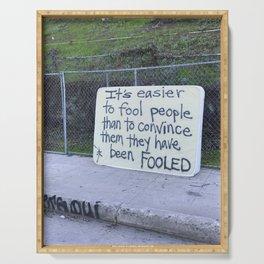 Fool Mattress Street Art  Serving Tray