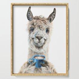 Llama Latte Serving Tray