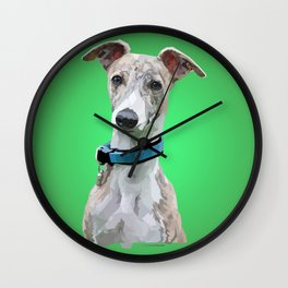 Low Poly Roo (Whippet) Wall Clock