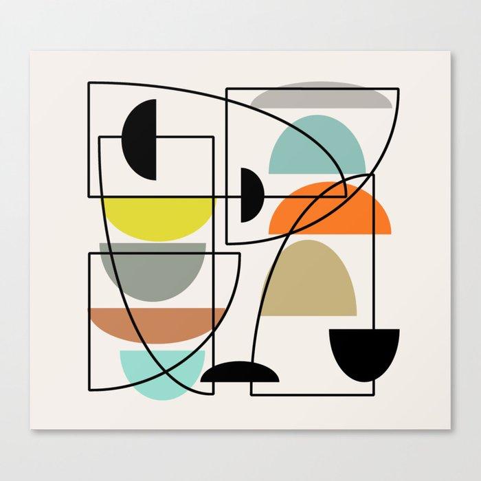 "Mid Century Modern ""Bowls"" Leinwanddruck"