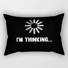 Funny I'm Thinking Christmas Gift Rectangular Pillow