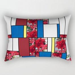 Mixed color Poinsettias 1 Art Rectangles 4 Rectangular Pillow