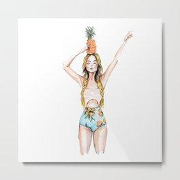 Anana | Fashion Illustration Metal Print
